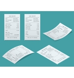 Set Paper check and financial check isolated vector