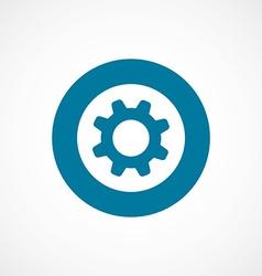 Settings bold blue border circle icon vector