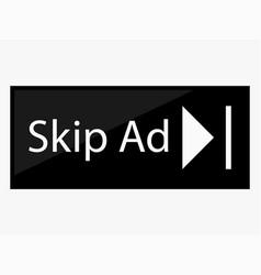 Skip ad button vector