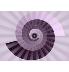 Spiral staircase pink tunnel to the light vector