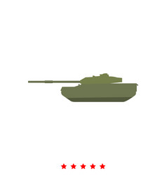 tank it is icon vector image