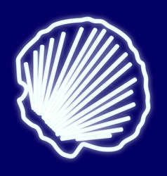 the picture of the clam shell vector image