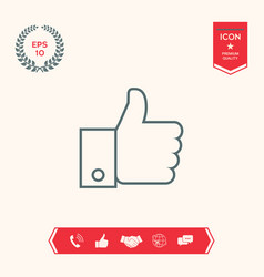 Thumb up gesture line icon vector