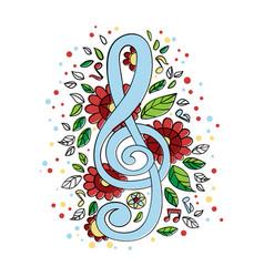 treble clef musical concert symbol vector image
