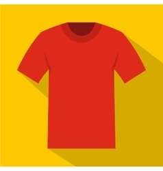Tshirt icon flat style vector image