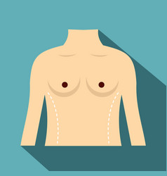 Woman prepared to waist surgery icon flat style vector
