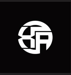 Xa logo monogram with rounded line swipe design vector