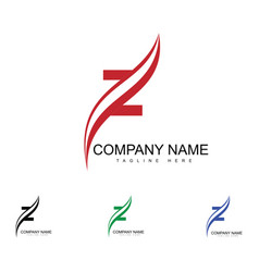 z letter logo design vector image