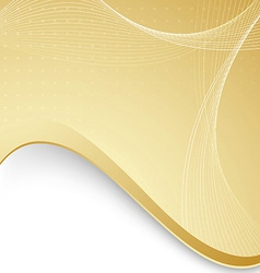 Abstract background with golden border and waves vector image vector image