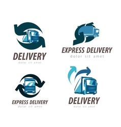 delivery logo design template truck or car vector image