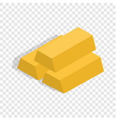 gold bars isometric icon vector image vector image