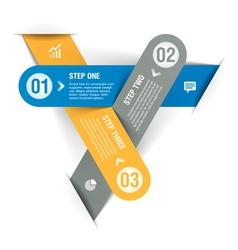Progress steps infographics template vector image vector image