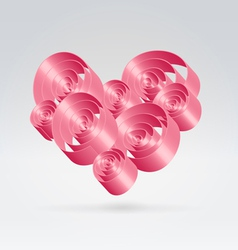 Romance ribbons bouquet vector image vector image