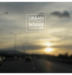 Urban blurred photo background vector image