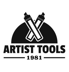 artist tool logo simple black style vector image