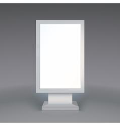 Digital Signage Blank advertising billboard on vector image