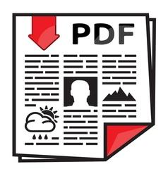 PDF icon2 vector image vector image