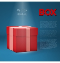 Realistic 3D Present Gift Box on Stage vector image