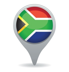 south african flag pointer vector image vector image