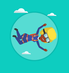 african parachutist jumping with parachute vector image