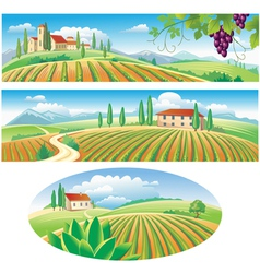 agriculture landscapes vector image vector image