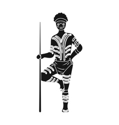 Astralian aborigine icon in black style isolated vector image