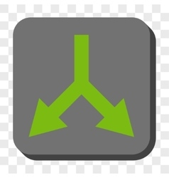 Bifurcation Arrow Down Rounded Square Button vector image