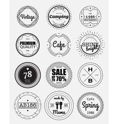 circle badges vector image
