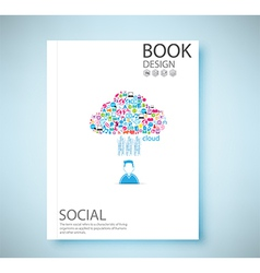 Cover report social network background vector image