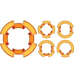 five ribbons vector image