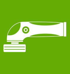 grinder machine icon green vector image vector image