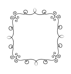 Hand drawn frame with curls Design vector image