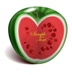 Heart-shape watermelon vector image vector image