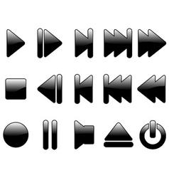 multimedia symbols vector image