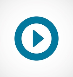 play bold blue border circle icon vector image
