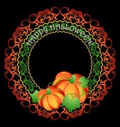 pumpkins medallion vector image vector image