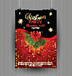 christmas party flyer design 1611 vector image vector image