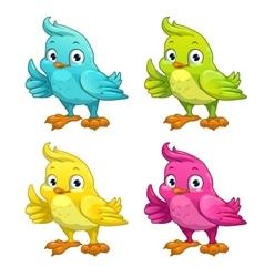 Funny cartoon bird vector image vector image