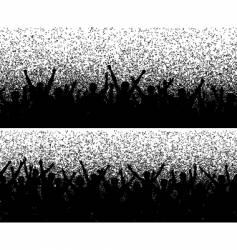 grainy crowds vector image vector image