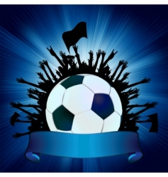 grunge soccer ball background vector image vector image