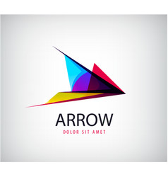 abstract arrow logo icon isolated point vector image