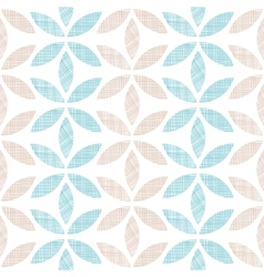 Abstract textile leaves stripes seamless pattern vector