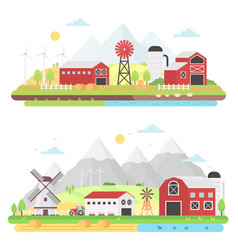 Agriculture agribusiness and farming concept vector