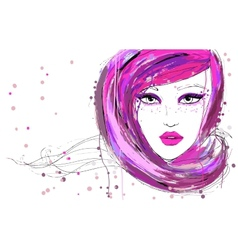 Beautiful fashion women vector image