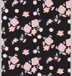 Beautiful flora on black background vector