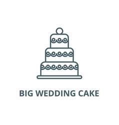 big wedding cake line icon big wedding vector image