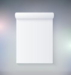 Blank Notepad vector image
