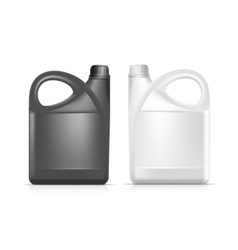 Blank Plastic Jerrycan Canister Gallon Oil vector image