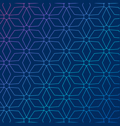 Blue background with abstract geometric pattern vector