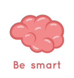 brain smart logo symbol education scientific idea vector image